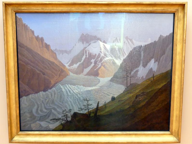Carl Gustav Carus: Das Eismeer von Chamonix, um 1825 - 1827