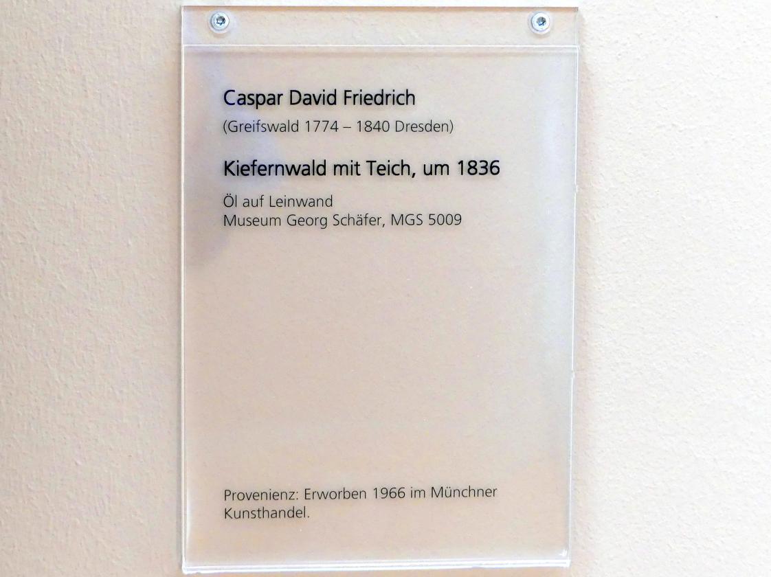 Caspar David Friedrich: Kiefernwald mit Teich, um 1836, Bild 2/2