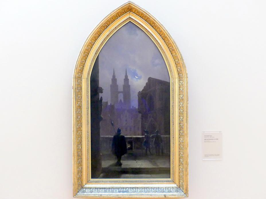 Carl Gustav Carus: Söller bei Mondschein, um 1836