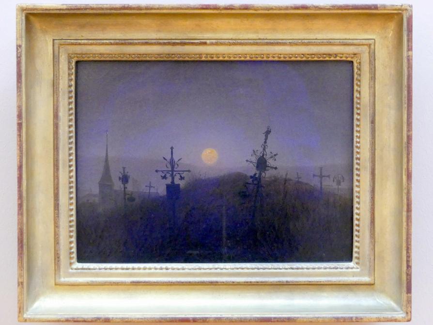 Carl Gustav Carus: Friedhof im Mondlicht, um 1822