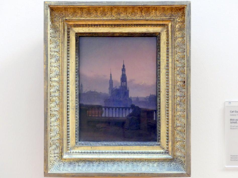 Carl Gustav Carus: Blick auf Dresden mit Hofkirche und Schloss, um 1830