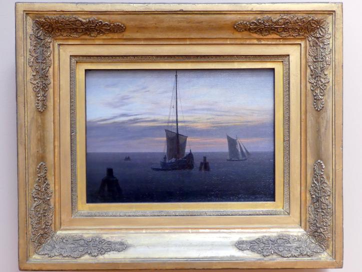 Caspar David Friedrich: Fischerboote auf der Ostsee (Abend am Meer), um 1825 - 1826