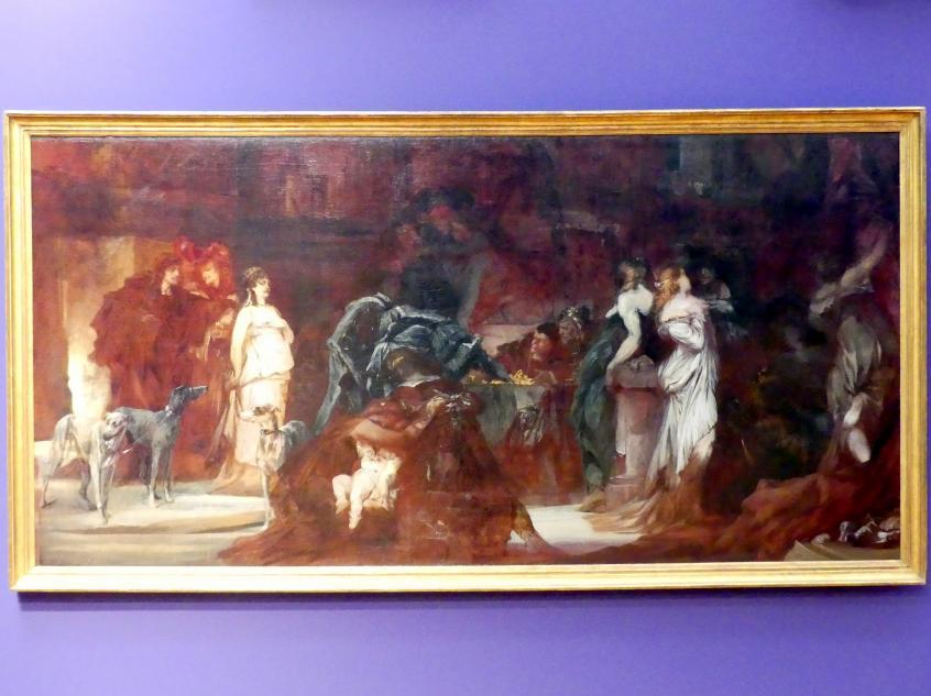 Hans Makart: Pest in Florenz (Decamerone), Teil I-III, 1868