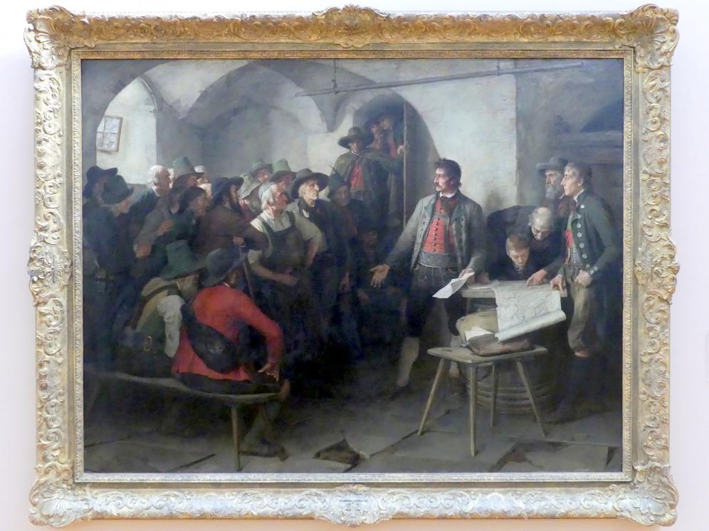 Franz von Defregger: Speckbachers Aufruf, 1886