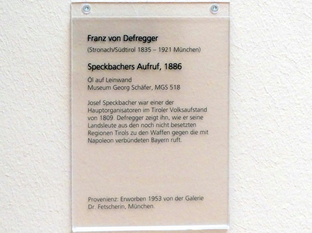 Franz von Defregger: Speckbachers Aufruf, 1886, Bild 2/2