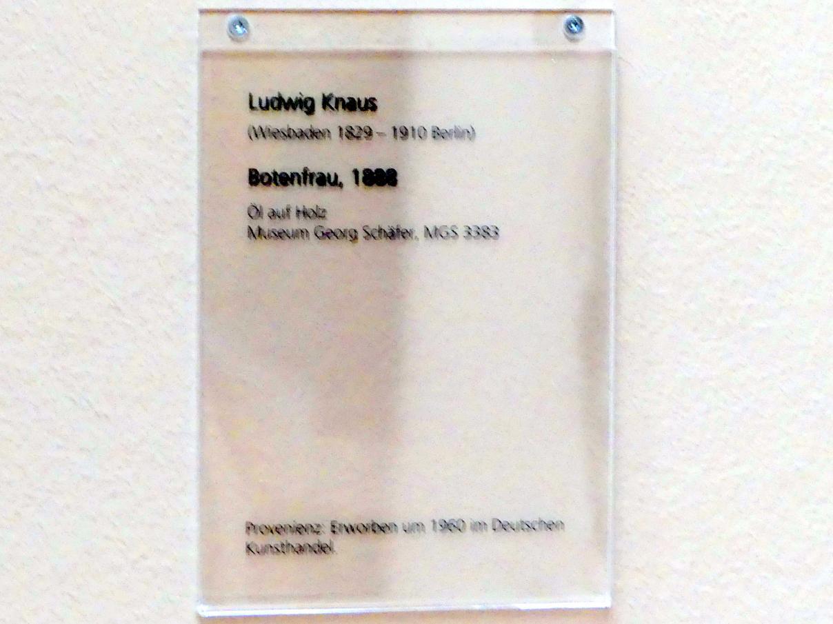 Ludwig Knaus: Botenfrau, 1888, Bild 2/2