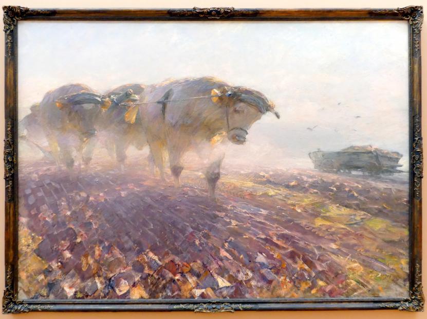 Heinrich von Zügel: Schwere Arbeit, 1928
