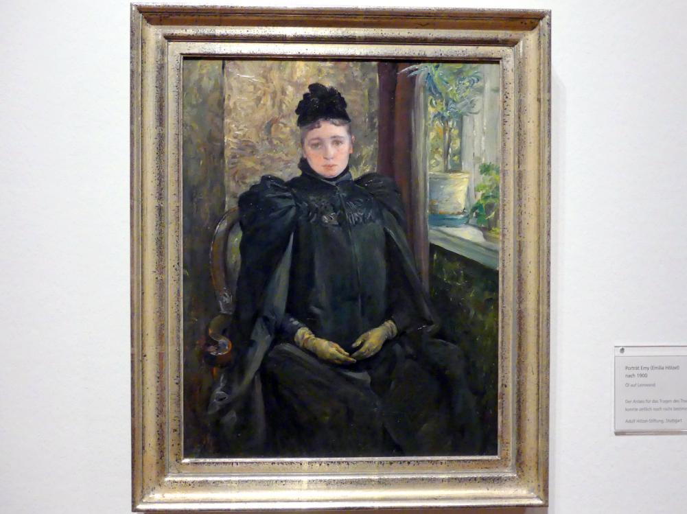 Adolf Hölzel: Porträt Emy (Emilia Hölzel), Nach 1900