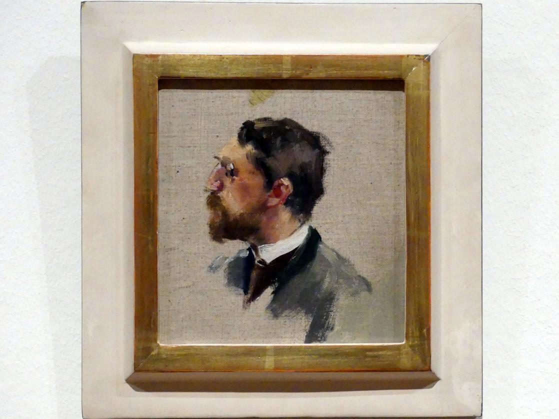 Adolf Hölzel: Porträt Adolf Hölzel, um 1890