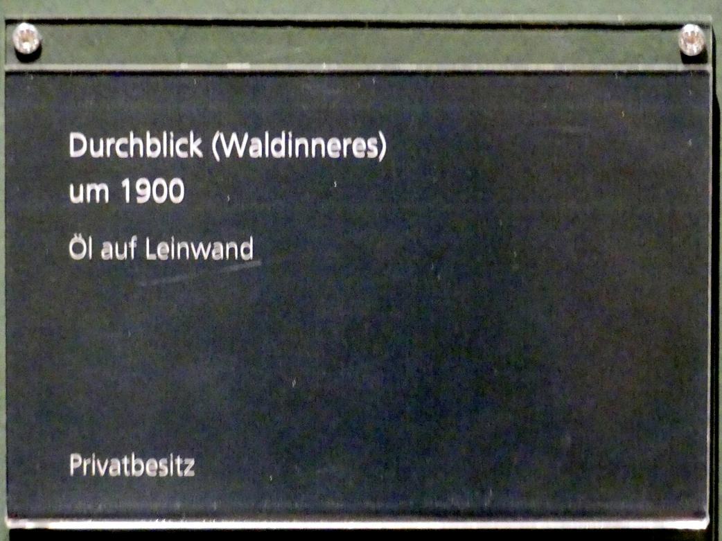 Adolf Hölzel: Durchblick (Waldinneres), um 1900, Bild 2/2