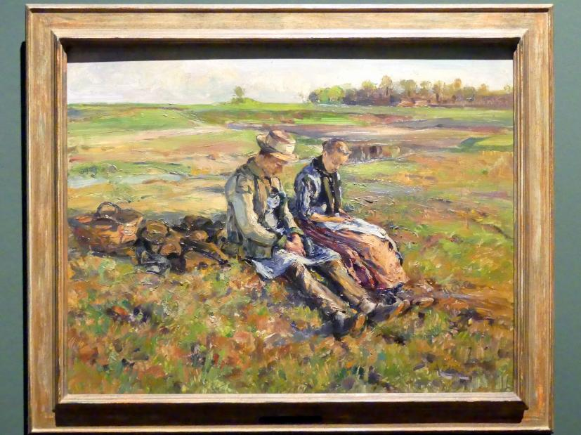 Adolf Hölzel: Junges Bauernpaar auf der Rast, Um 1895