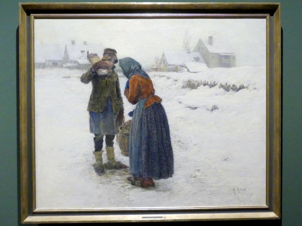 Adolf Hölzel: Eine Begegnung, 1892