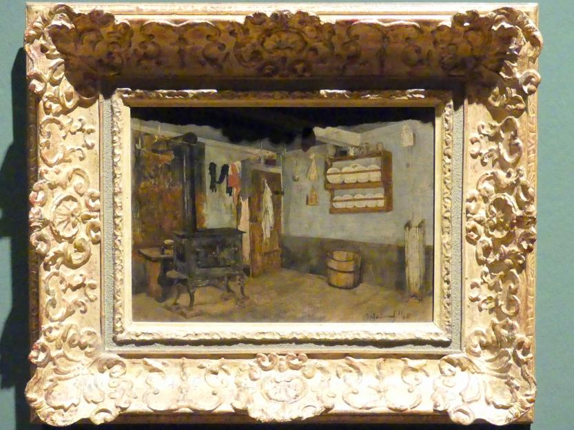 Adolf Hölzel: Bauernküche in Rothaurach, 1880