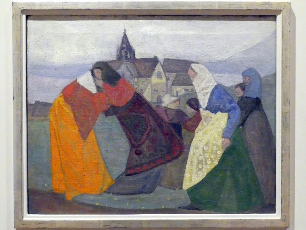 Adolf Hölzel: Begegnung (Kloster Bebenhausen), Um 1907 - 1908