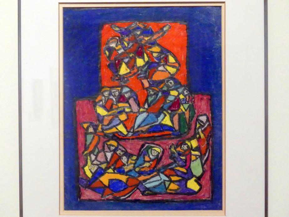 Adolf Hölzel: Komposition in der Art eines Glasfensters, Undatiert