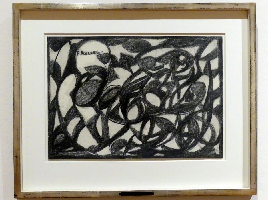 Adolf Hölzel: Abstraktes Lineament (Ranken), um 1932