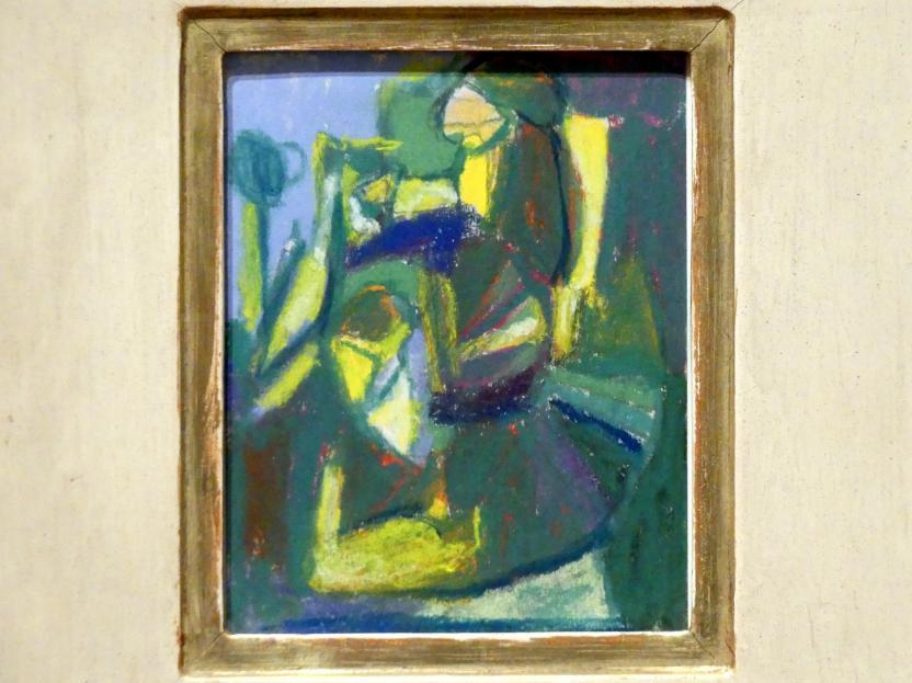 Adolf Hölzel: Kleine Farbkomposition (beherrschend grün), Undatiert
