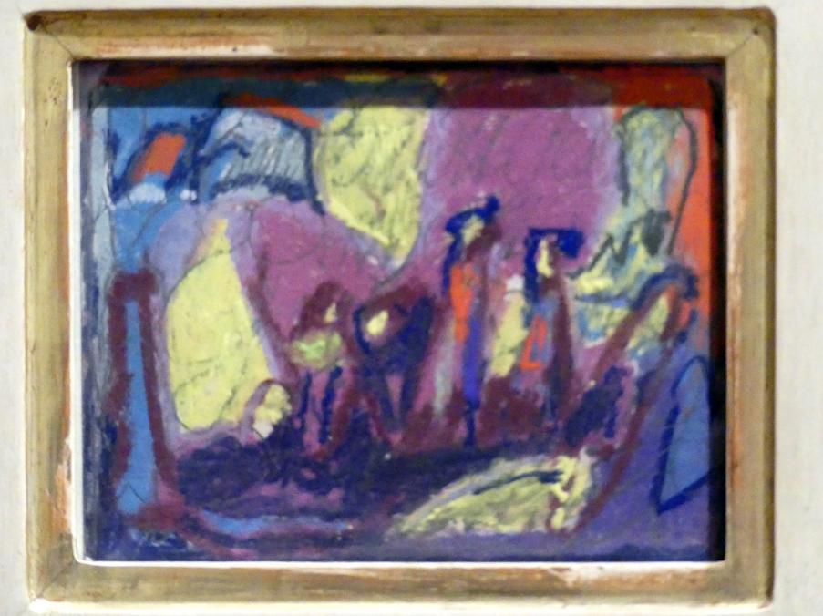 Adolf Hölzel: Kleine Farbkomposition, beherrschend violett, Undatiert