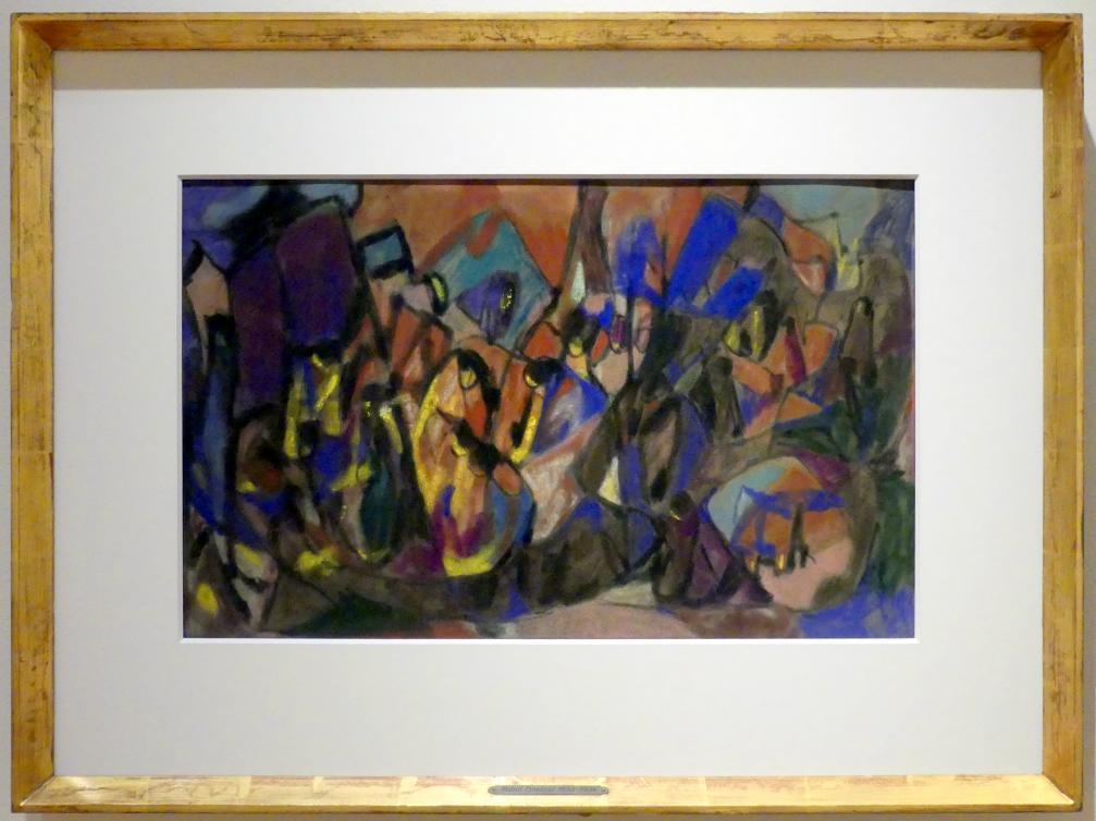 Adolf Hölzel: Große Farbkomposition (Die Menschheit in Licht und Schatten), Nach 1930