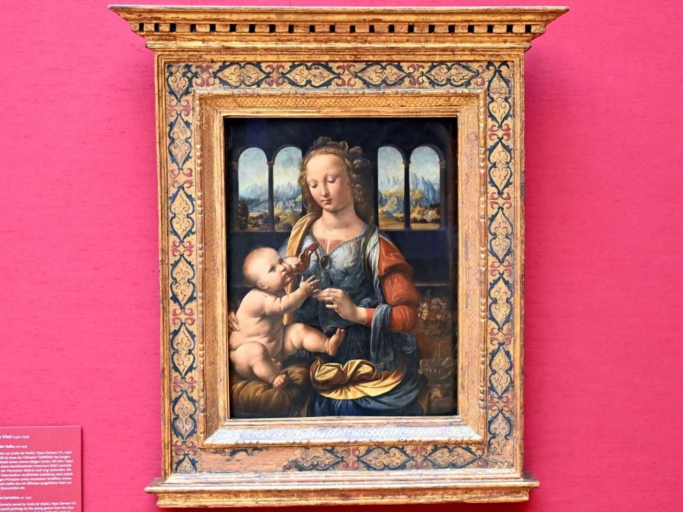Leonardo da Vinci: Madonna mit der Nelke, Um 1475