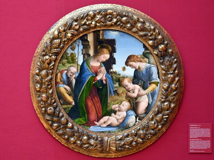 Fra Bartolomeo (Baccio della Porta): Anbetung des Kindes, Um 1495