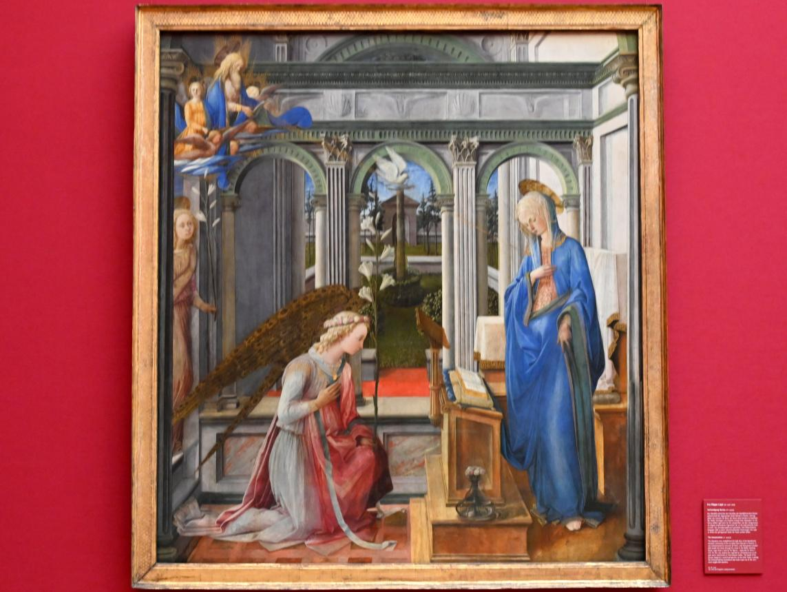 Fra Filippo Lippi: Verkündigung Mariae, um 1443 - 1445