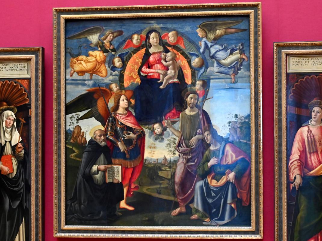 Domenico Ghirlandaio: Drei Tafeln des Hochaltars von S. Maria Novella in Florenz, um 1490 - 1494, Bild 2/6