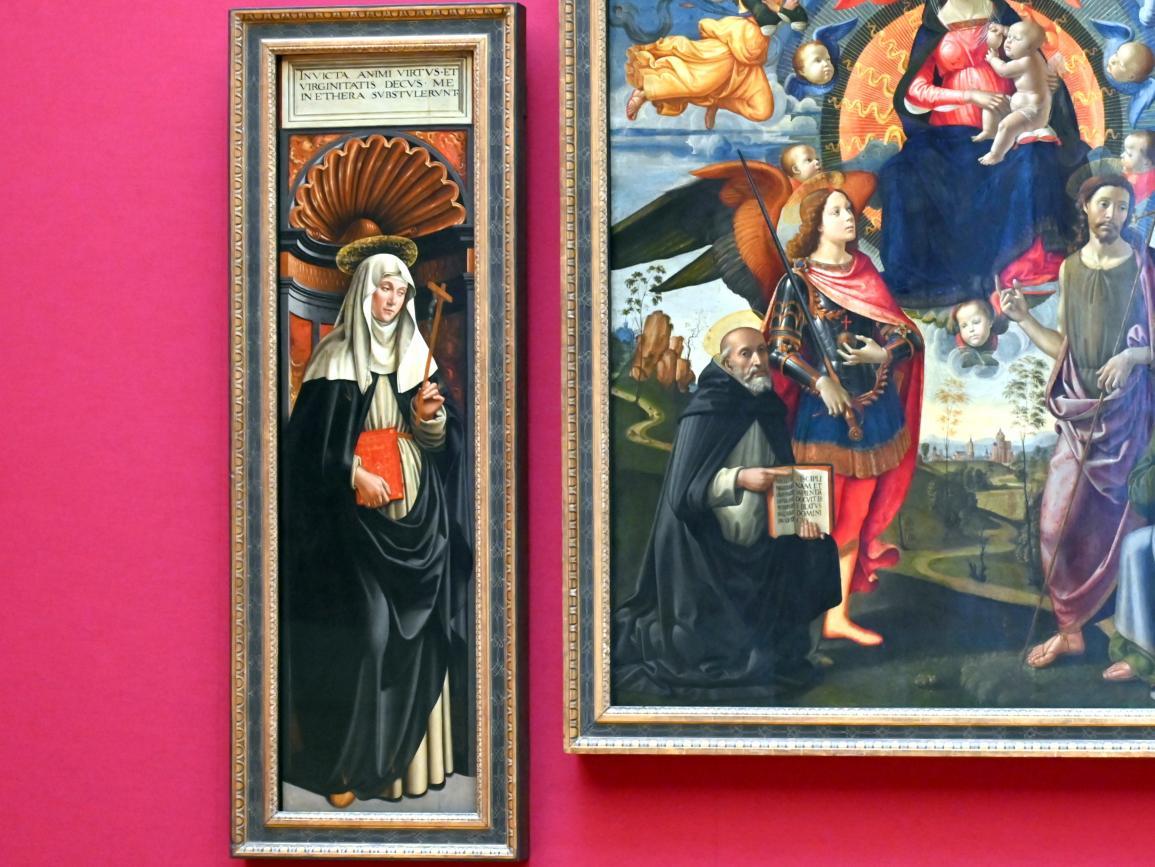 Domenico Ghirlandaio: Drei Tafeln des Hochaltars von S. Maria Novella in Florenz, um 1490 - 1494, Bild 3/6
