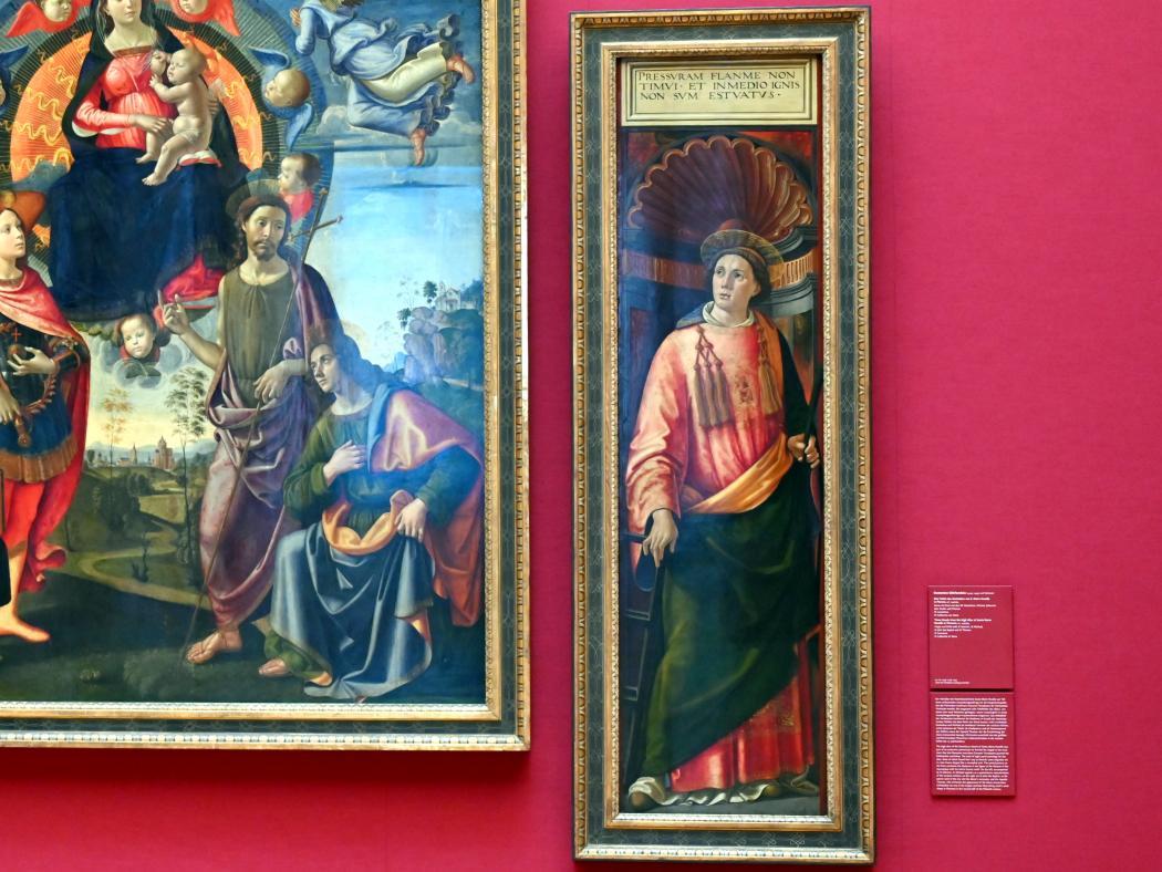 Domenico Ghirlandaio: Drei Tafeln des Hochaltars von S. Maria Novella in Florenz, um 1490 - 1494, Bild 4/6