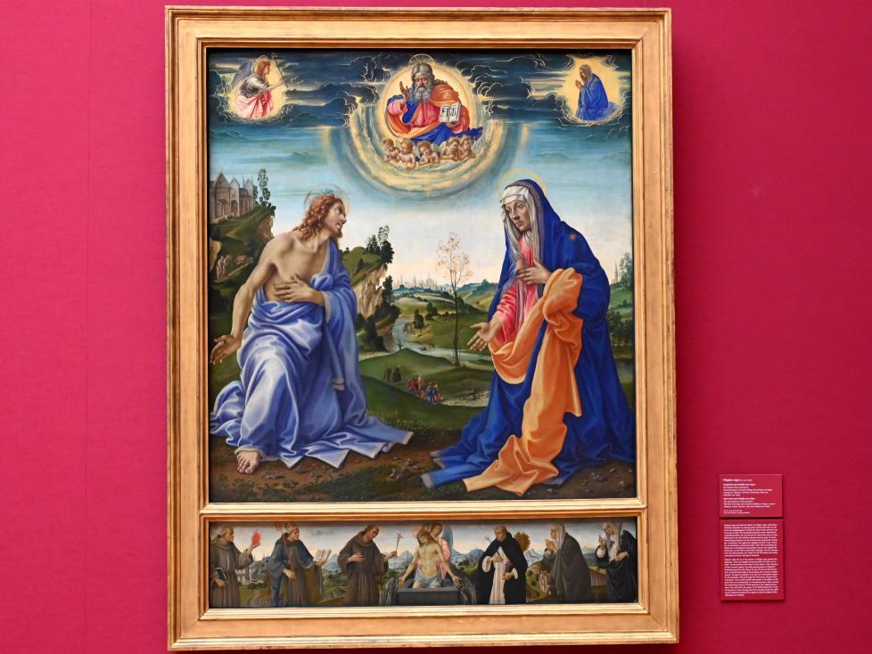 Filippino Lippi: Haupttafel und Predella eines Altars, um 1490 - 1494