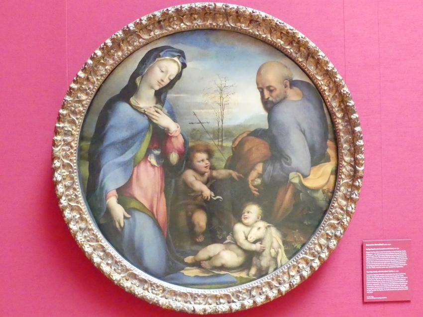 Domenico Beccafumi (il Mecherino): Heilige Familie mit dem Johannesknaben, Um 1515