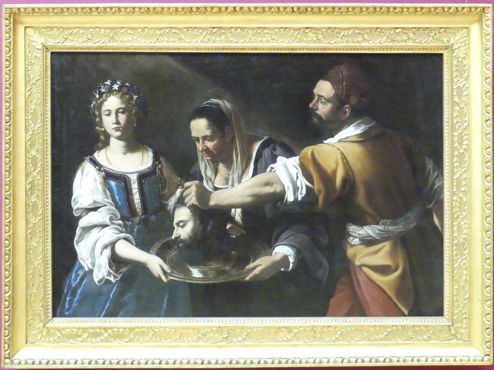 Antiveduto Gramatica: Salome empfängt das Haupt des Johannes, Um 1616