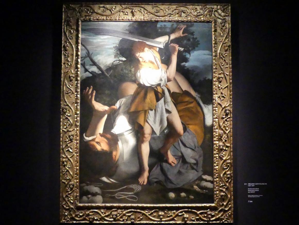 Orazio Gentileschi: David und Goliath, um 1605 - 1607
