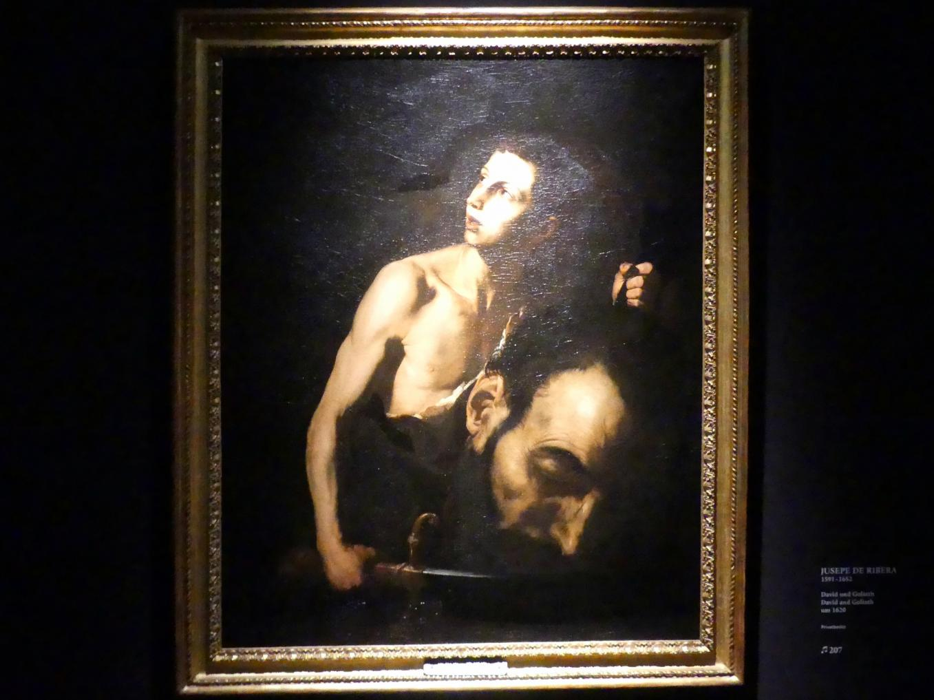 Jusepe de Ribera: David und Goliath, um 1620