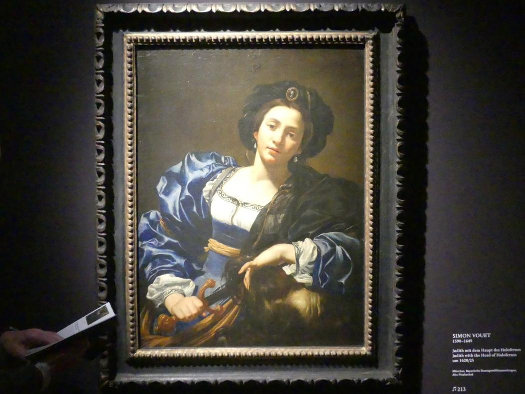 Simon Vouet: Judith mit dem Haupt des Holofernes, Um 1620 - 1625