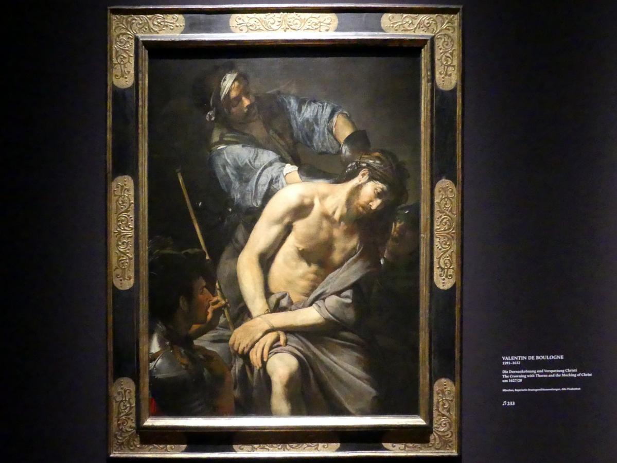 Valentin de Boulogne: Die Dornenkrönung und Verspottung Christi, Um 1627 - 1628