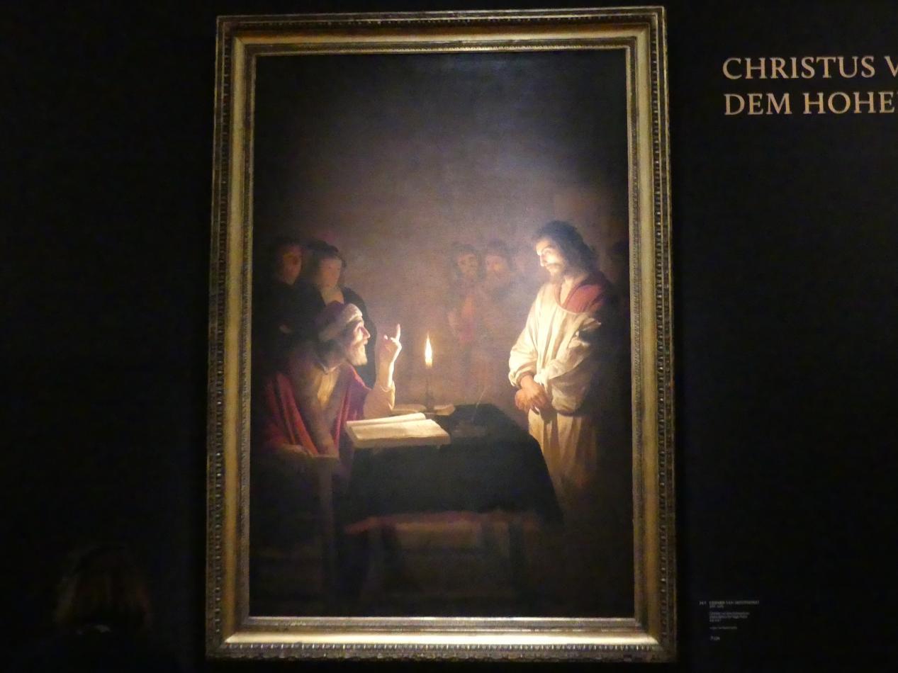 Gerrit van Honthorst (Gerard van Honthorst): Christus vor dem Hohepriester, Um 1617