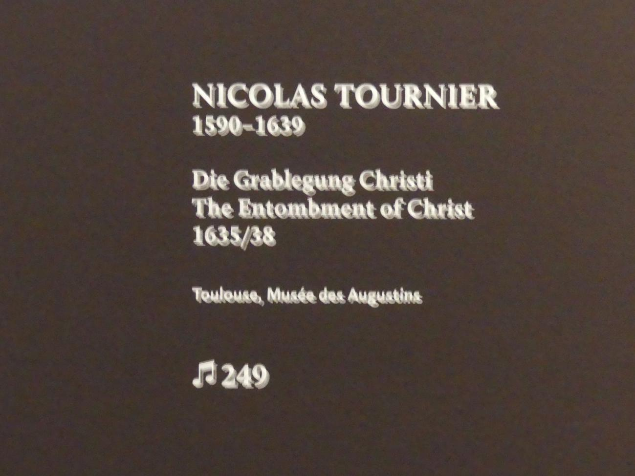 Nicolas Tournier: Die Grablegung Christi, 1635 - 1638, Bild 2/2