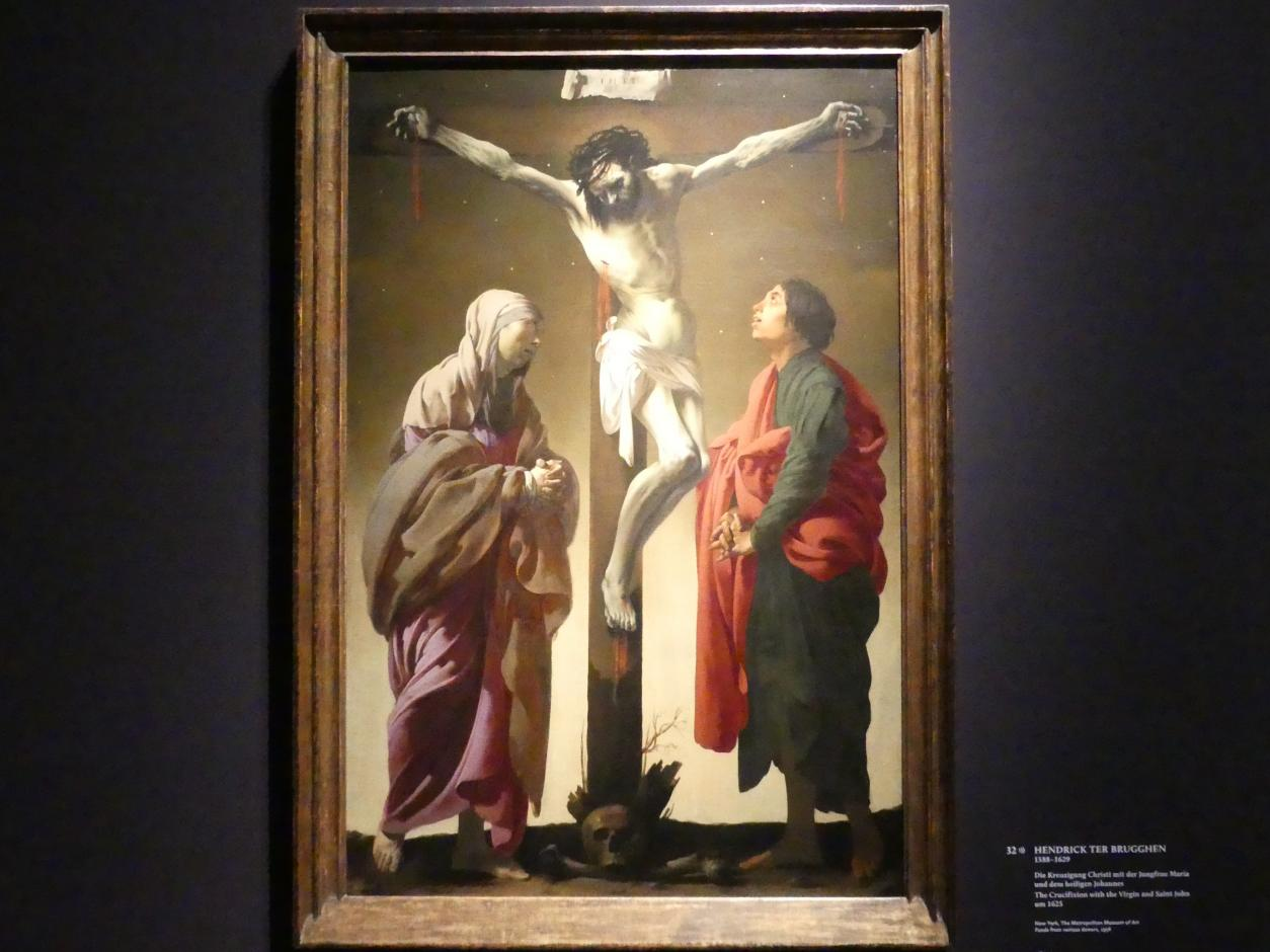 Hendrick ter Brugghen: Die Kreuzigung Christi mit der Jungfrau Maria und dem heiligen Johannes, um 1625