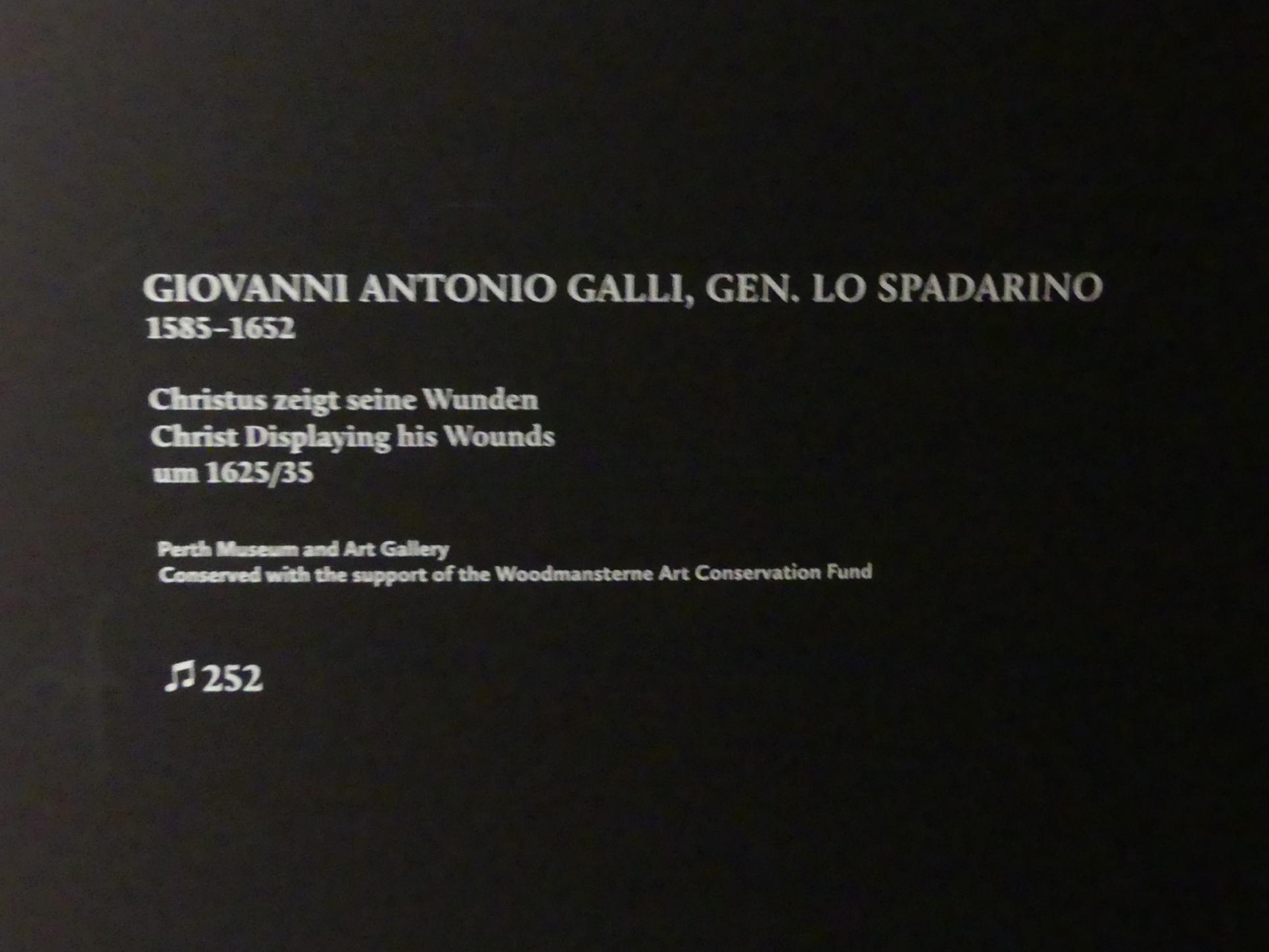Giovanni Antonio Galli (Lo Spadarino): Christus zeigt seine Wunden, um 1625 - 1635, Bild 2/2