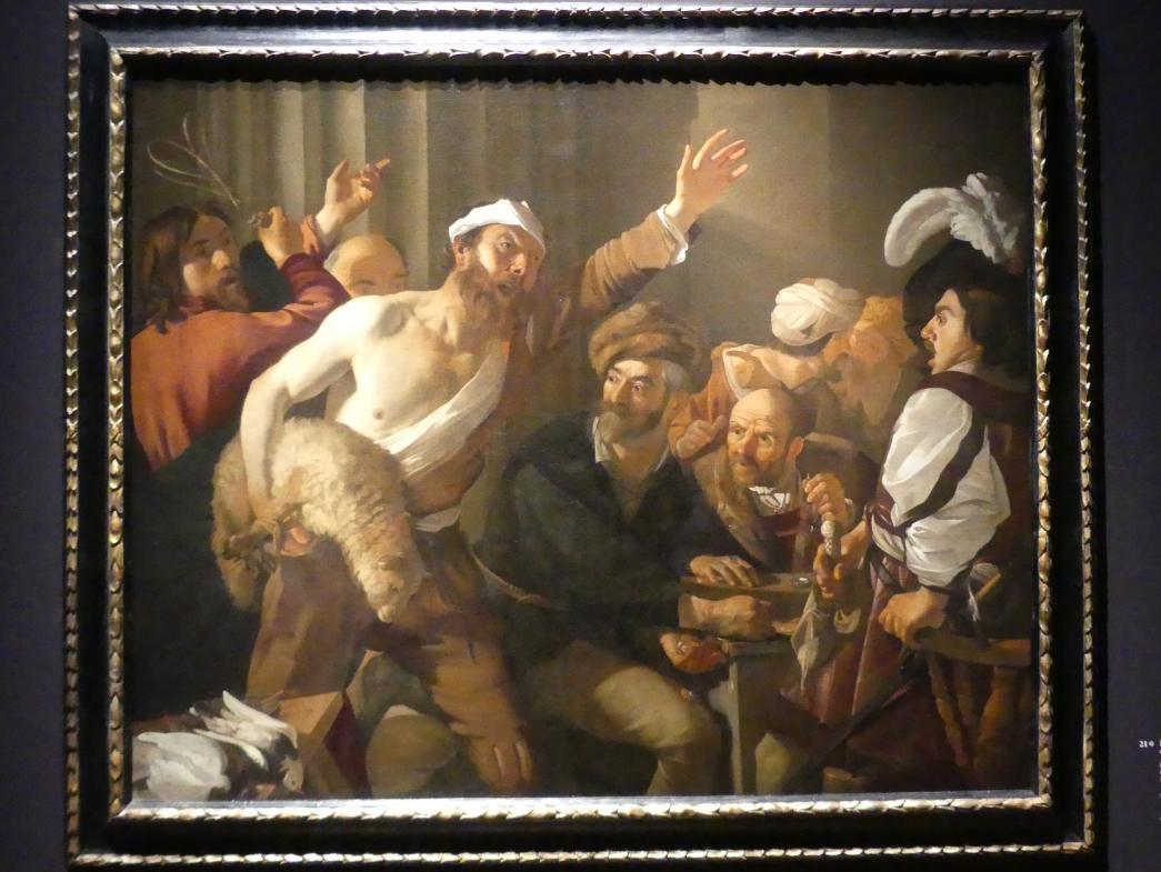 Dirck van Baburen: Die Vertreibung der Geldwechsler aus dem Tempel, 1621