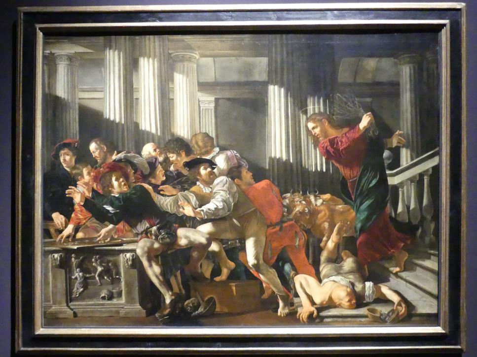 Cecco del Caravaggio (Francesco Boneri): Die Austreibung der Wechsler aus dem Tempel, 1610 - 1615