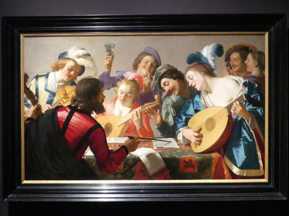 Gerrit van Honthorst (Gerard van Honthorst): Musikalische Gesellschaft (Konzert), 1623