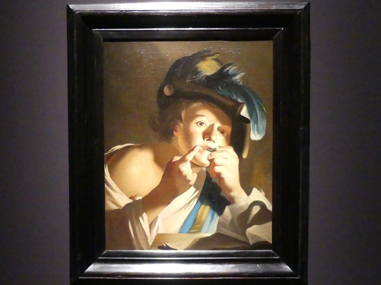 Dirck van Baburen: Junge mit Maultrommel, 1621