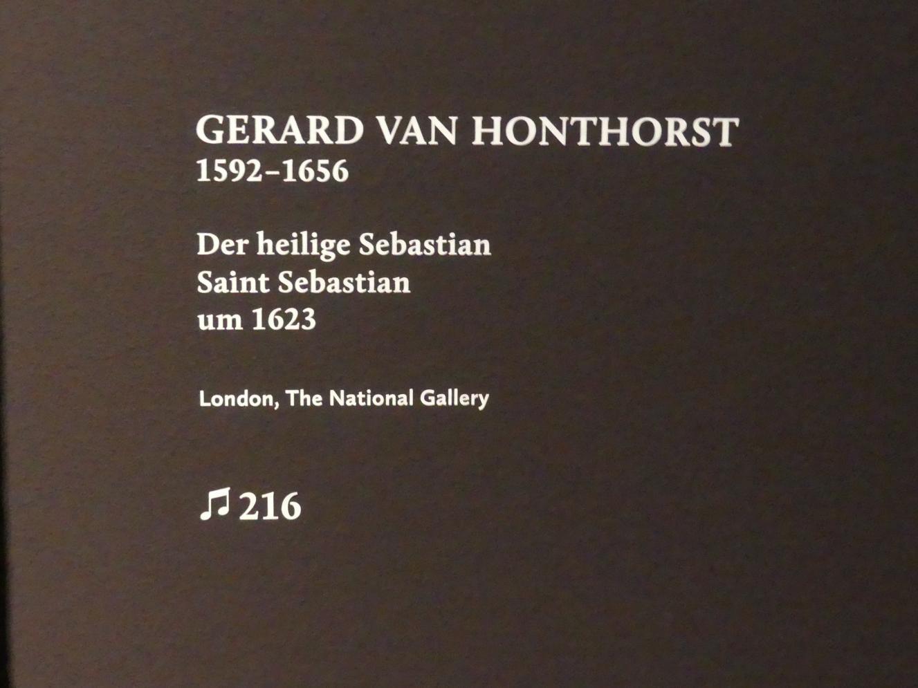 Gerrit van Honthorst (Gerard van Honthorst): Der heilige Sebastian, um 1623, Bild 2/2