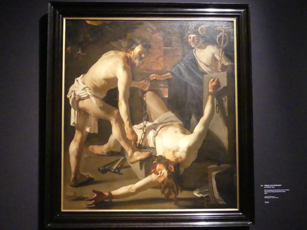 Dirck van Baburen: Die Fesselung des Prometheus durch Vulkan, 1623