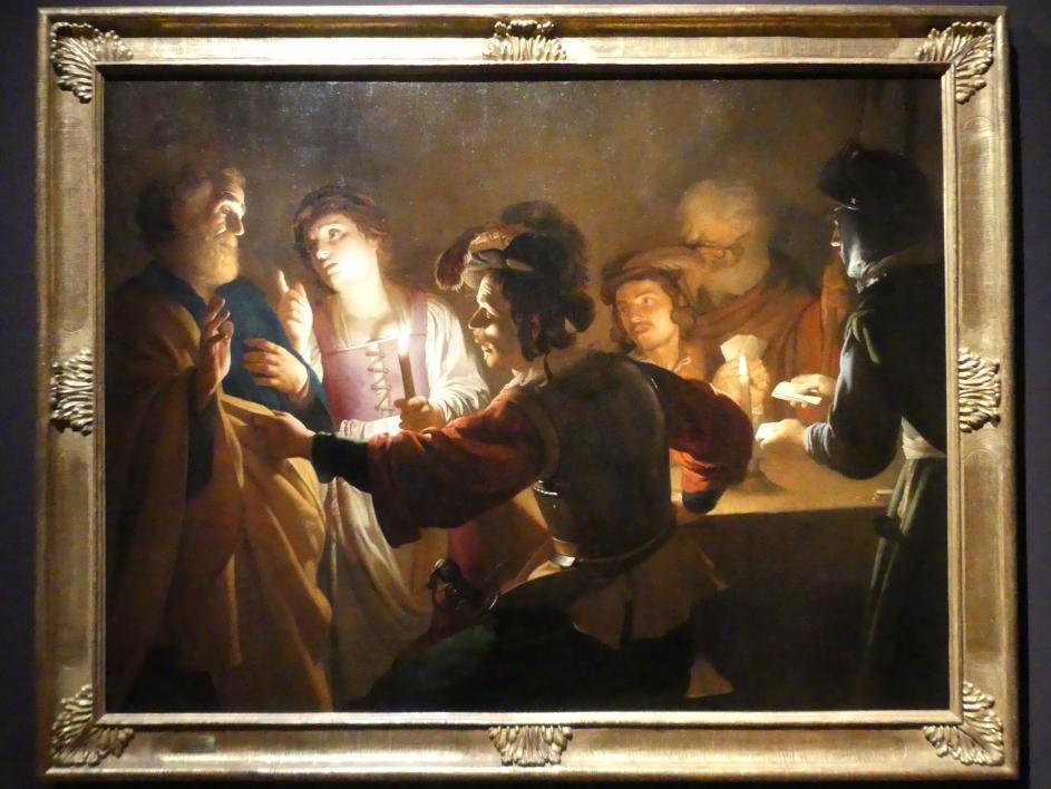 Gerrit van Honthorst (Gerard van Honthorst): Die Verleugnung Petri, um 1616 - 1617