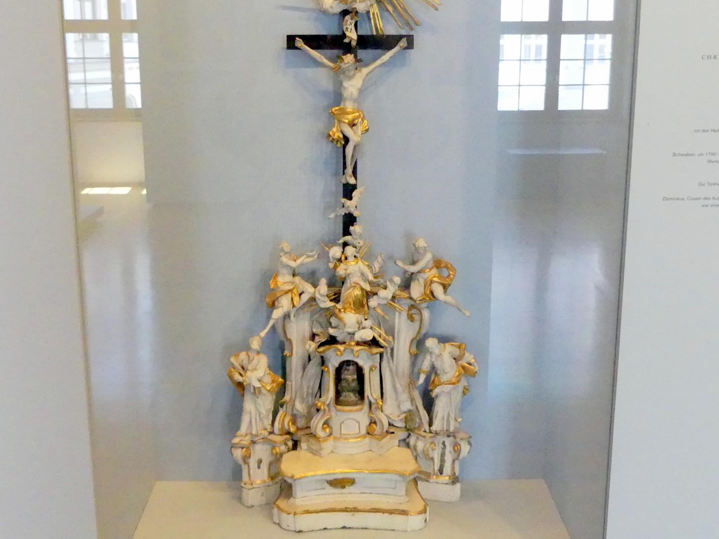 Altarmodell mit den Heiligen Petrus und Paulus, Maria Immaculata, dem Gekreuzigten und Gottvater, um 1760