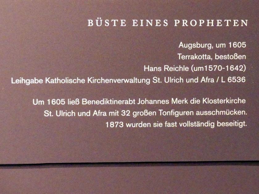 Hans Reichle: Büste eines Propheten, um 1605, Bild 2/2