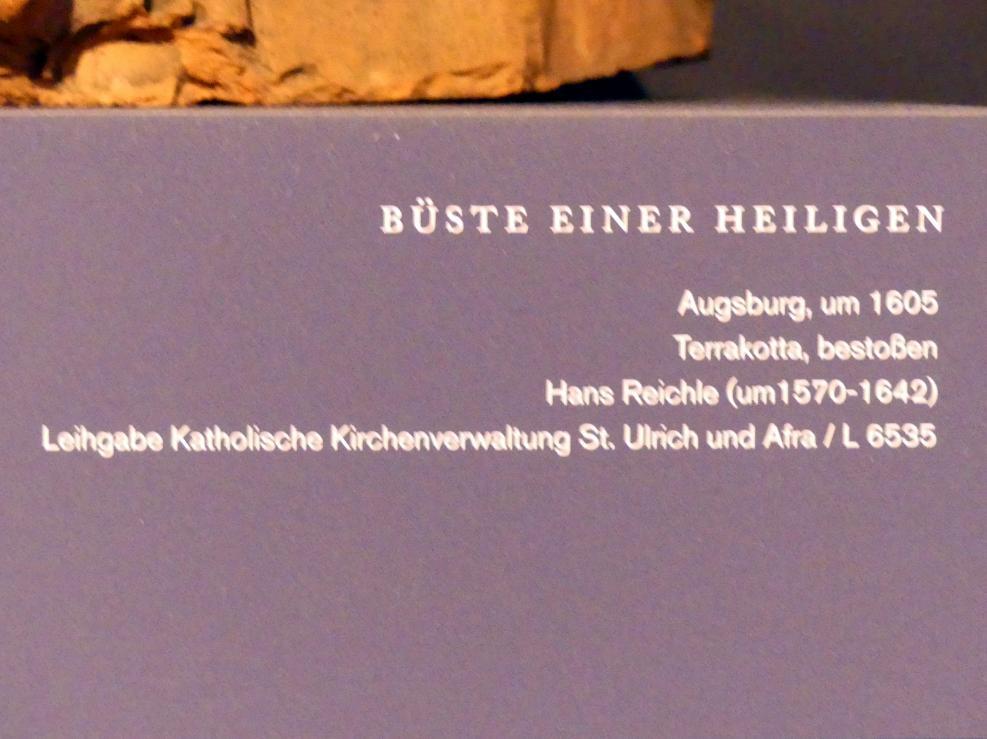 Hans Reichle: Büste einer Heiligen, um 1605, Bild 2/2